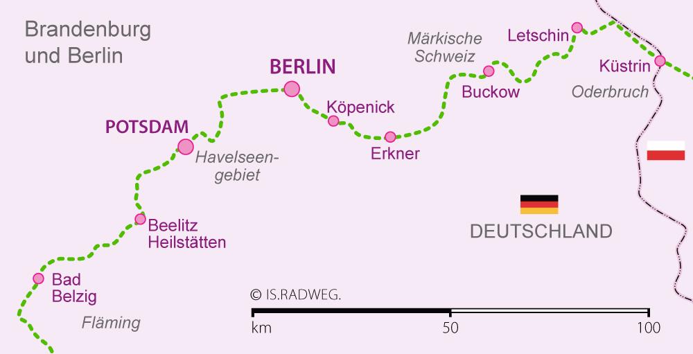 Europaradweg R1 Euroroute In Deutschland