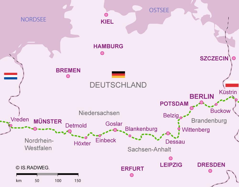 Europaradweg R1 Deutschland