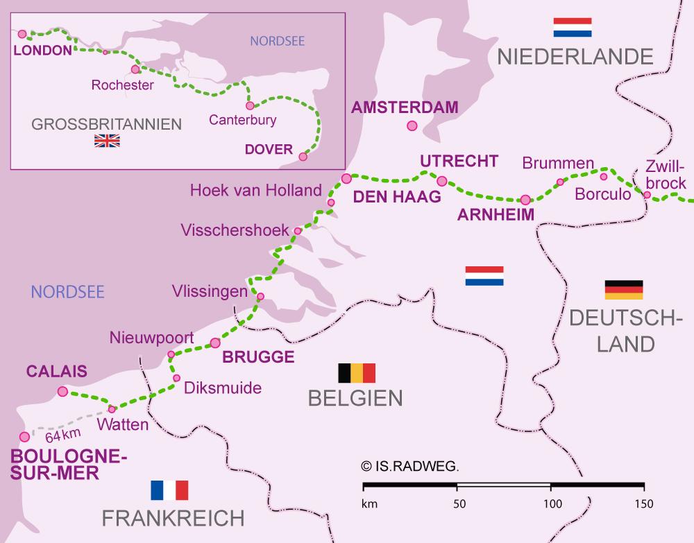 Euroroute R1 - Tripcalculator France Belgium Netherland
