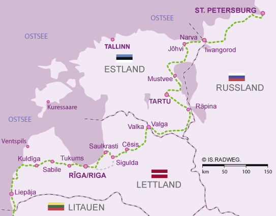 Euroroute R1 Latvia–Estonia–St. Petersburg